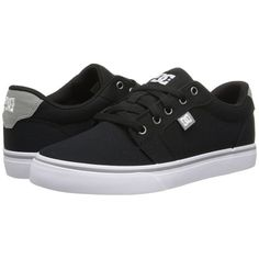 DC Anvil TX Women's Skate Shoes ($28) ❤ liked on Polyvore featuring shoes, sneakers, black, black shoes, low top skate shoes, skate shoes, black low top sneakers and black sneakers