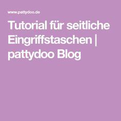 Tutorial für seitliche Eingriffstaschen | pattydoo Blog