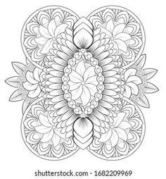 COLORING PAGE | Collection de photos et d'images de stock de buyung ade saputra | Shutterstock Mandala Coloring, Colouring, Coloring Pages, Zentangle Drawings, Quilling Designs, Illustrations, Color 2, Mandala Art, 2 Colours