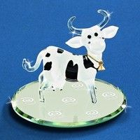 "Glass Baron ""Ellie Bell"" Cow Figurine"