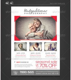 Photographer Flyer Template  Graphic Design Creative Layouts