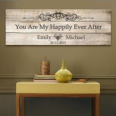 E-HOME®+Personalized+Signature+Canvas+Frame-You+Are+My+Happily+Ever+After+–+USD+$+26.99