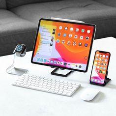 Computer Desk Setup, Computer Gadgets, Ipad Accessories, Desktop Accessories, Tablet Phone, Smartphone, Design Social, Technology Hacks, Ipad Pro 12