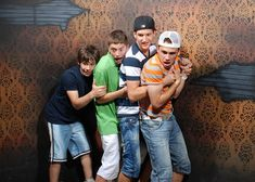 """These hidden camera shots from Nightmares Fear Factory in Niagara Falls, CA tell me three things. 1. Bros love going to haunted houses together. 2. Bros are easy to spook. 3. We should call them """"scarebros."""""""
