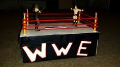 My son Dakerrious' s valentines day box. He loves sum WWE