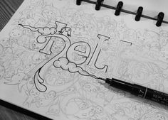 """""""Hello"""" Doodle Art - Allvin Garamar"""