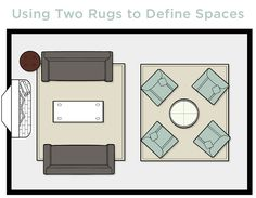 Visual guide to rug sizing. | Rug Heaven | Pinterest | Best Living ...