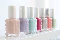 Pastel Nail Polish girly colorful nails nail polish pretty pastel