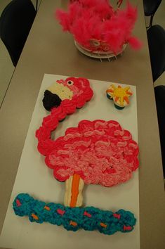 Kaley's Flamingo Cupcake Cake...so much fun to make!