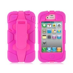 $9.99 For Apple iPhone 44S Pink Armor Robot Protective Case Cover with Back Clip Cell phone Aceesories esaledeal.com