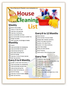 Commercial Cleaning Templates | ... cleaning schedule printable ...