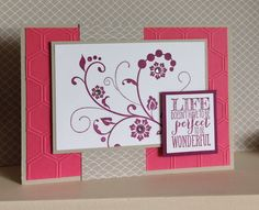 Flowering Flourishes with Honeycomb Embossing Folder - created by Julia Jordan