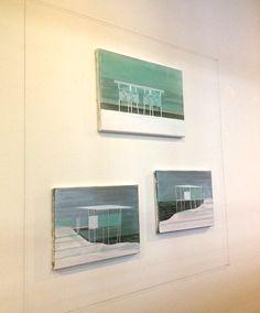 Cécile van Hanja Pile-dwelling I, II & III, 25 x 35 cm, Acryl en caseïneverf op linnen, 2010. www.cecilevanhanja.com