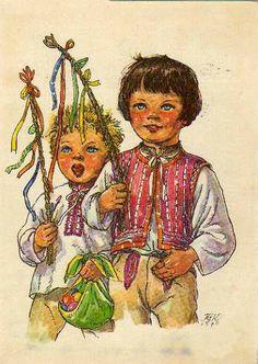 Marie Kvěchová-Fischerová School Clubs, Aa School, Old Postcards, Young People, Childhood Memories, Illustrators, The Darkest, German, Drawing