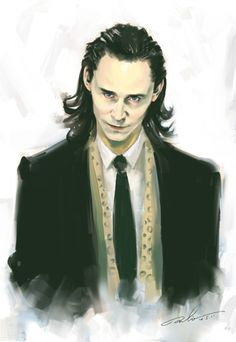 Loki fan art. Oooh, so flawless. I love being a part of this fandom.