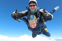 Lisa MacKissack's skydive which raised over £1,000!