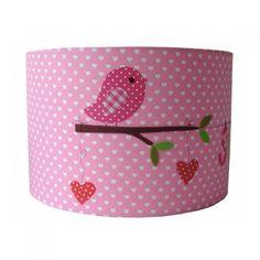 Kinderlamp-met-naam-Vogeltje-Pink