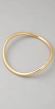 asymmetrical bracelet in rose gold too