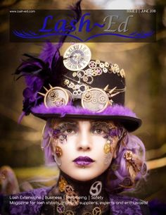 Steam Punk Front Cover fantasy lash art, fantasy lashes, steampunk, lash artist Cindy Nicholls iLashtique