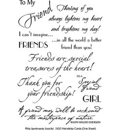 24 best card sentiments friendship images on pinterest cards