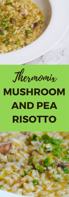 Meatless Monday – Thermomix Mushroom and Pea Risotto Vegetarian Recipes Easy, Rice Recipes, Easy Dinner Recipes, Whole Food Recipes, Easy Meals, Mushroom And Pea Risotto, Risotto Recipes, Mushroom Recipes, Meatless Monday