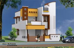 """""""Hindustan Multistate Co-operative Housing Society"""", மத்திய அரசாங்கத்தின் கீழ் செயல்படும் ஒரு கூட்டுறவு வீட்டு சங்கமாகும். Duplex House Plans, Bungalow House Design, House Front Design, Dream House Plans, Modern House Design, Indian House Exterior Design, Sweet Home Design, Independent House, Model House Plan"""