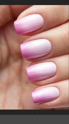Pink shimmer ombre