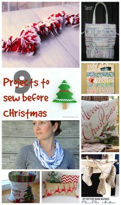 Christmas Sewing Tutorials - 9 projects to sew before Christmas.