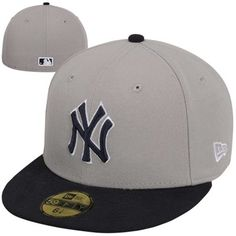 New Era New York Yankees 2-Tone Basic 59FIFTY Fitted Hat - Navy Blue/Gray