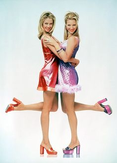 """90s-Inspired Halloween Costumes You Can Do with Slacker-Level Effort. Mira Sorvino and Lisa Kudrow in """"Romy and Michelle's High School Reunion."""""""