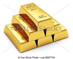 Stock de Ilustraciones - Lingotes de oro. Ilustracion libre.