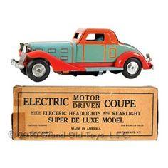 1933 Marx, Super Deluxe Electric Coupe In Original Box
