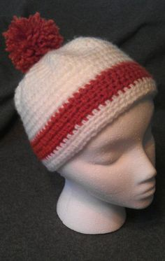 Burnt Orange and White Team Spirit Hat by BriesCreations on Etsy, $15.99