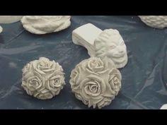 DIY - Beton giessen - Silikonform einteilig/ zweiteilig Rosenkugel und fertiger Abguss - YouTube