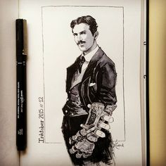 "2,037 Me gusta, 31 comentarios - Antonio García (@koveck) en Instagram: """"Nikola Tesla"" I know I know... another repost XD I added this time a photo of the work in…"""