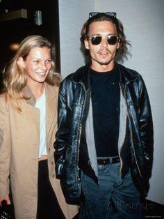 Kate Moss and Johnny Depp Impressão fotográfica premium