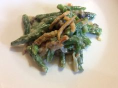 Green Beans with Bacon and Cream Sauce