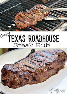 This Dry Steak Rub recipe tastes just like The Texas Roadhouse Restauraunt! It's easy to make and is perfect for grilling! This Dry Steak Rub recipe tastes just like The Texas Roadhouse Restauraunt! It's easy to make and is perfect for grilling! Grilling Recipes, Cooking Recipes, Steak Marinade Recipes, Marinated Steak, Grilled Steaks, Grilled Steak Marinades, Best Grilled Steak, Game Recipes, Grilled Meat