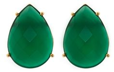 Faceted Pear Shaped oversized studs are the perfect pop for any ensemble.
