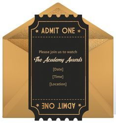 Ticket Invitation Red Carpets And On Pinterest