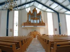 Interior of Gereformeerde Gemeente (Reformed Congregations) Wageningen, the place where I am every Sunday