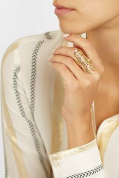 Ileana Makri | Geometry 18-karat gold diamond ring