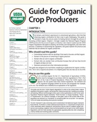 Everything you need to know about being an Organic Crop Producer. #ATTRA #Organic #Farm #USDAOrganic