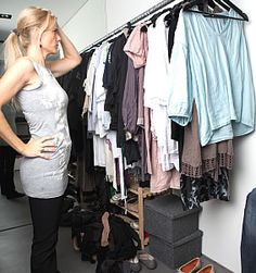 Declutter and organize your clothes. Boy, do I need to learn to do this...I just might find things...lol...
