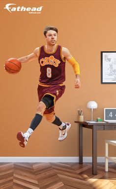 NBA Basketball | This wall decal is perfect for a birthday, graduation, holidays or just because. This gift will always be cherished by Cavs fans. SHOP http://www.fathead.com/nba/cleveland-cavaliers/matthew-dellavedova-throwback-wall-decal/ | DIY Bedroom Decor for Boys + Girls | Custom Decals | Peel & Stick | Man Cave | Home Decor