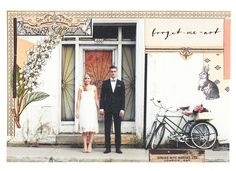 Custom save-the-dates cards using the couple's engagement photos by Aprile Elcich