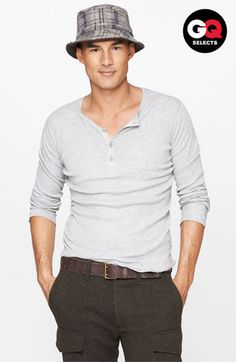 Vince Wool & Linen Henley Sweater #Nordstrom #GQSelects