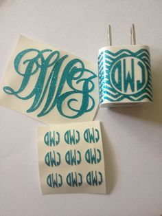 iPhone Monogram Set on Etsy, $8.00