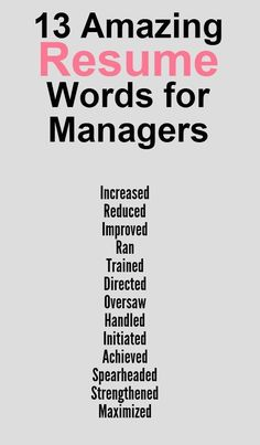 Great words to use on your resume! If you go to the link, you'll find extra tips on putting together your resume. #Careeradvice