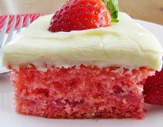 Fresh Strawberry Cake [736 x 571] - Imgur